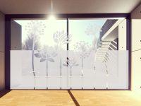 Sichtschutzfolie | Fenstertattoo Blumenreihe | Blumenreihenoptik
