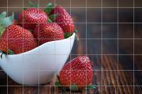 Erdbeeren in Schale Fliesenbild