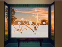 Sichtschutzfolie | Milchglasfolie Japanische Ranke | Rankenoptik