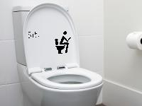 WC Deckel Aufkleber Sitzplatz