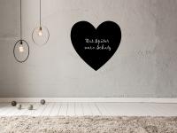 Romantische Tafelfolie Herz   Kreidefolie