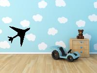 Flugzeug Wandtattoo