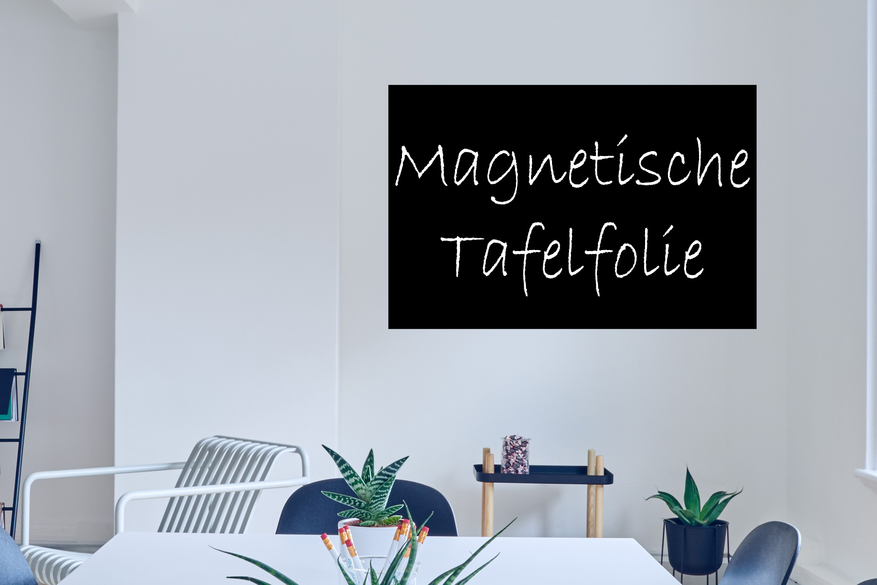 magnetische tafelfolie selbstklebend f r magnete. Black Bedroom Furniture Sets. Home Design Ideas