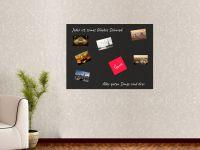 100 x 75 cm | Hochwertige selbstklebende magnetische Tafelfolie | Kreide und Kreidestift | schwarz Vorschau1