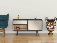 Möbelfolie für Sideboard elfenbein matt