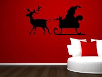 Weihnachtsmann mit Schlitten Wandtattoo