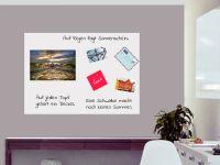 DIN A0 | Selbstklebende magnetische Whiteboardfolie | Whiteboard | weiß
