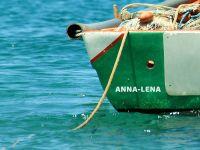 Bootsbeschriftung auf Heck