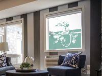Sichtschutzfolie | Fenstertattoo Vogelornament | Vogelrankenornament
