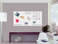 180 x 90 cm | Selbstklebende magnetische Whiteboardfolie | Whiteboard | weiß