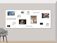 300 x 120 cm | Magnetisches Whiteboard | weiß mit Bohrungen