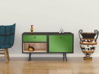Möbelfolie für Sideboard apfelgrün glänzend