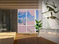 Sichtschutzfolie | Glasornament Baumkrone | Baumkronenmotiv