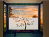 Sichtschutzfolie | Fensterfolie Baum | Baumoptik