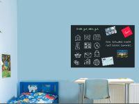 120 x 80 cm   Selbstklebende magnetische Tafelfolie   Kreide und Kreidestift   schwarz