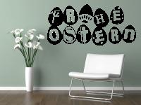 Ostereier Wandtattoo | Frohe Ostern