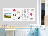 250 x 100 cm | Selbstklebende magnetische Whiteboardfolie | Whiteboard | weiß