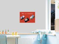 DIN A2 | Selbstklebende, bunte, magnetische Farbfolie | Whiteboard + Tafel Ersatz rot Vorschau