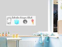 10 x 30 cm (3 Stk) | Selbstklebende magnetische Whiteboardfolie | Whiteboard | weiß