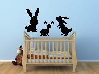Kaninchen Wandtattoo