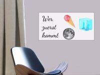 10 x 20 cm (3 Stk) | Selbstklebende magnetische Whiteboardfolie | Whiteboard | weiß