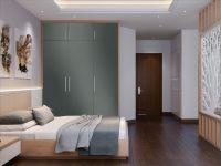 Möbelfolie für Schrank dunkelgrau glänzend