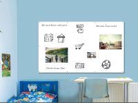 200 x 120 cm | Magnetisches Whiteboard | weiß mit Bohrungen